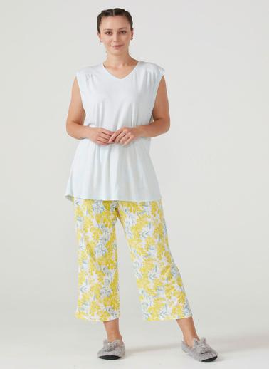 Sementa Kadın Büyük Beden Pijama Takım - Gri Gri